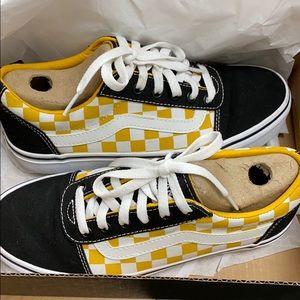 Vans Old Skool Pro Checker Black/Gold Skate Shoes